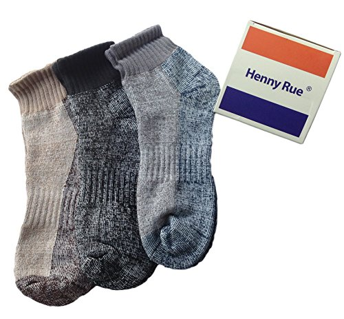 Lian LifeStyle Unisex 3 Pairs Cotton Crew Sports Socks Size 7-10(Gift - Outlet Michigan Store