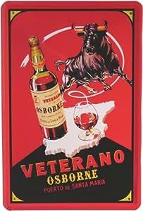 Diseño de 20 x 30 cm Veterano Osborne brandy Retro cartel de chapa 401