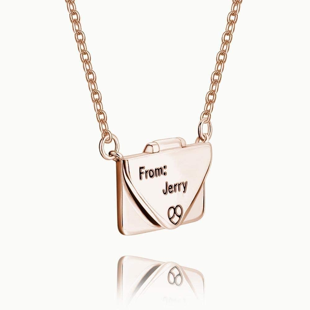 Personalized Custom Couples Names Necklace Sterling Silver Penadant Jewelry Gift for Women Girl