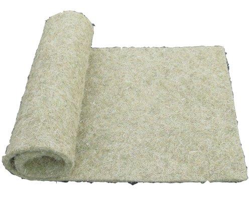Nager-Teppich aus 100 % Hanf, 100 x 40 cm 10 mm dick , Nagermatte geeignet als Käfig Bodenbedeckung z.B. für Kaninchen, Meerschweinchen, Hamster, Degus, Ratten und andere Nagetiere.