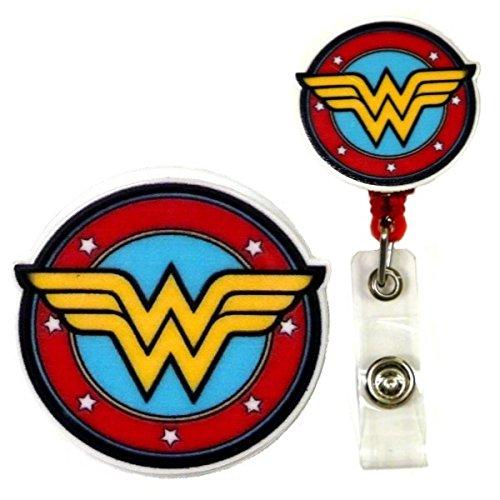 Wonder Woman Inspired Symbol Decorative ID Badge Holder (Wonder Women)