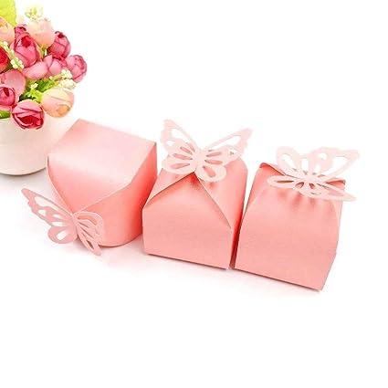 JZK 50 x Cajas de favor para el cumpleaños boda baby shower sagrada comunión fiesta graduación