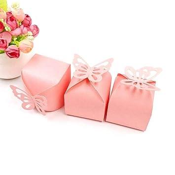 JZK 50 x Cajas de favor para el cumpleaños boda baby shower sagrada comunión fiesta graduación Navidad o varias ocasiones, ideal para dulces, ...