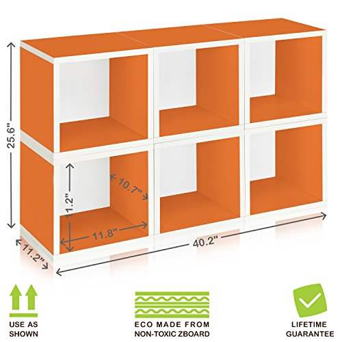 Way Basics Eco Stackable Modular Storage Cubes (Set Of 6