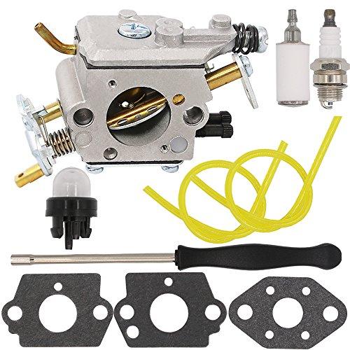 Yooppa Carburetor for Poulan Pro PP5020AV PP5020 PP5020AVX Chainsaw 2 stroke PP4818A Gas Chainsaw 573952201/573 95 22-01 Craftsman 358.350980 358.350981 358.350982 Zama C1M-W47 Carburetor (Carburetor Pro)