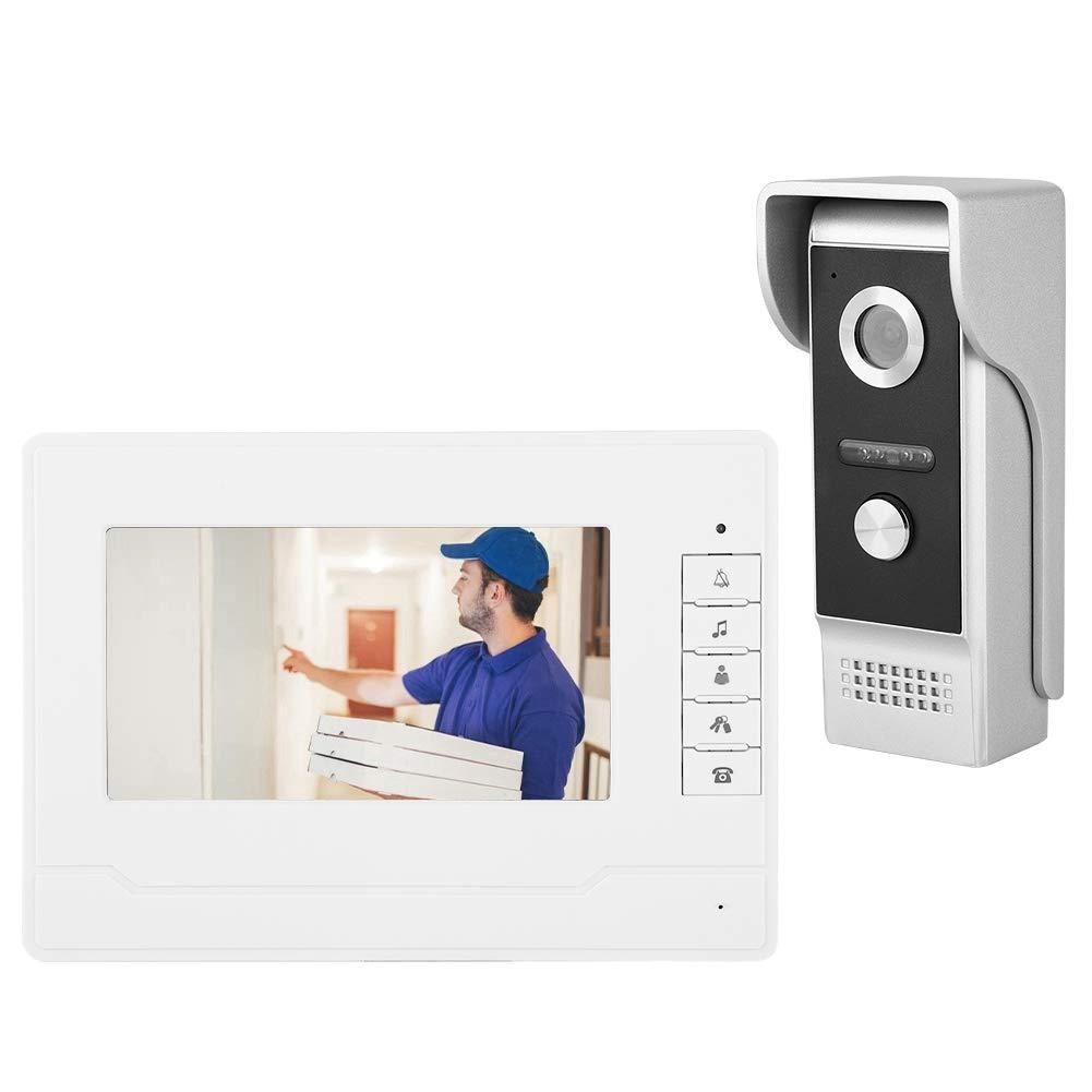 UE Xinwoer Profesional a Prueba de Agua 7 Pulgadas TFT//LCD HD Videoportero con Cable Timbre de la Puerta Vista Nocturna Portero autom/ático