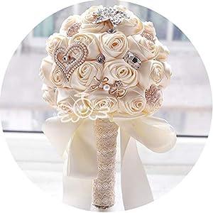 in Stock Round Blush Wedding Bouquet Teardrop Butterfly Brooches Bouquet Alternative Cascading Bouquet Crystal Wedding Flowers 15