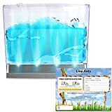 Lighted Blue Gel Ant Habitat with FREE Certificate for 25 Ants (1 Tube Ants)