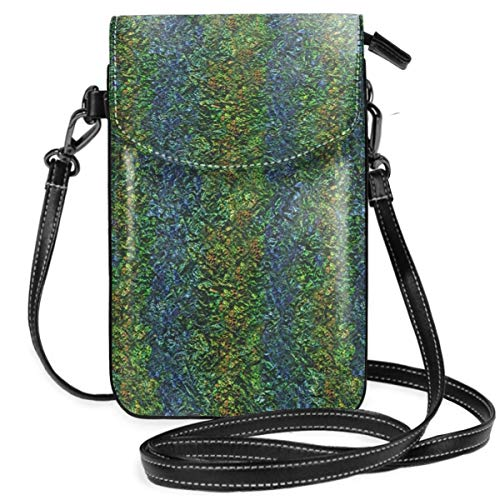 Small Cell Phone Purse Crossbody Cellphone Shoulder Bag Iridescent Crinkle Smartphone Wallet Purse with Removable Strap