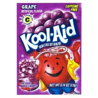 Kool-Aid Soft Drink Mix Grape Unsweetened, Caffeine Free - 0.14 Oz, Pack of 15