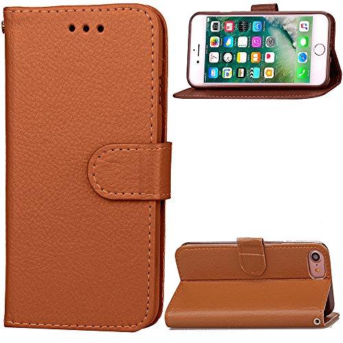 Funda Libro para iPhone 8,Manyip Suave PU Leather Cuero Con Flip Cover, Cierre Magnético, Función de Soporte,Billetera Case con Tapa para Tarjetas, Funda iPhone 8 F