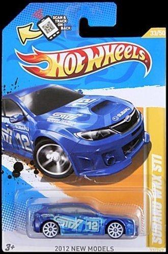 hot wheels 2012 new models 33 50 033 subaru wrx sti blue - Hot Wheels Cars 2012