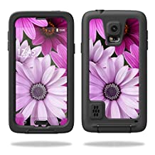 Mightyskins Protective Skin Decal Cover for LifeProof Samsung Galaxy S5 Case fre Case wrap sticker skins Purple Flowers