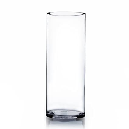 Amazon Wgv Clear Cylinder Glass Vase 4 By 12 Inch Home Kitchen