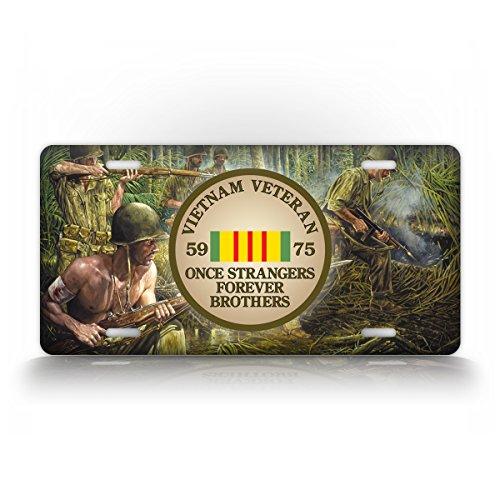 Vietnam Veteran Badge License Plate