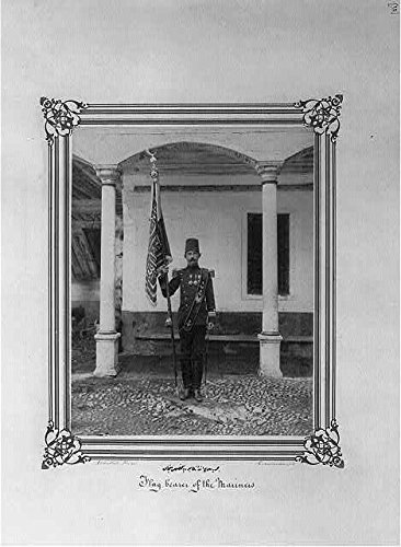 - HistoricalFindings Photo: Flag of Imperial Battalion,Navy Fusiliers,Istanbul,Turkey,1880-1893,Sailors