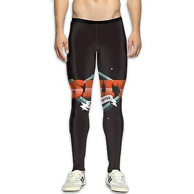 GFGRFDD Shit Happens Printed Yoga Pants Men Anti-Sweat Bodybuilding Sport Skull Leggings Quick Drying