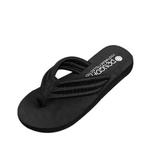 Zarupeng Damen Sommer Flip Flops Casual Hausschuhe Flachen Sandalen Strand Open Toe Schuhe Pantoffeln Plateau