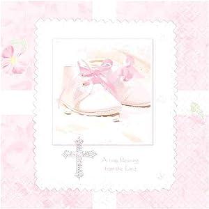 Tiny Blessing Pink Beverage Napkins, 5