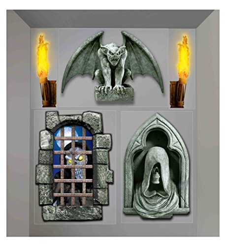 Forum Novelties Dungeon Decor Indoor/Outdoor Creepy Wall Decoration, 5', Multicolor (Adult Simple Halloween Costumes)