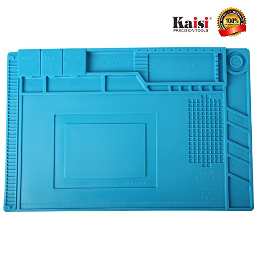 Soldering Mat Phone Repair Mat Maintenance Station Magnetic Heat Insulation Silicone Mat Maintenance Platform for Phone Repair, Computer Repair and Other Devices Repair by Kaisi S-160 by Kaisi