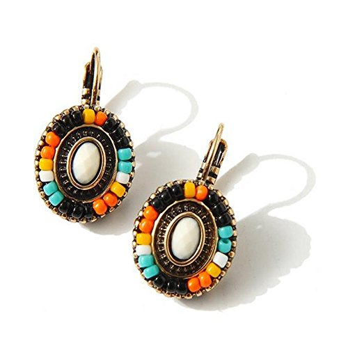 Darkey Wang Woman Fashion Bohemian Retro Colorful Handmade Earrings