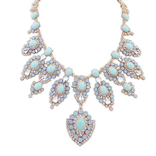 The Starry Night Romantic Blue Gemstone Sweet Color Diamond Cut Style Sharp Drop Diamante Charm (Kent Sponges)