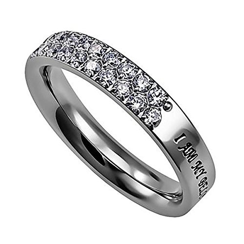 - Covenant Pave Stone Ring I AM MY BELOVED'S AND HE IS MINE SOS 6:3 Stainless Steel Christian Bible Verse Scripture Jewelry (7)