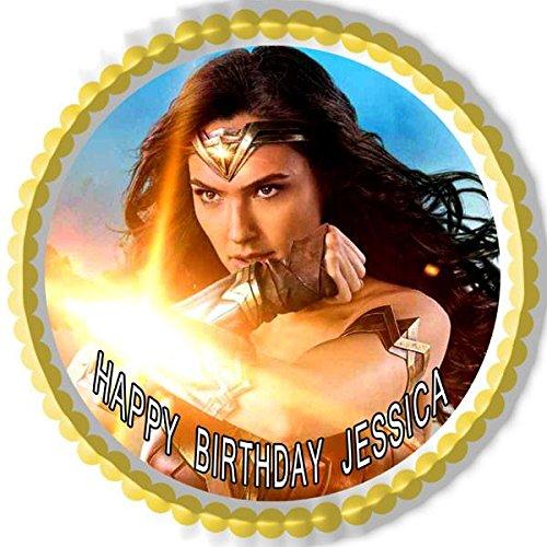 Wonder Woman 2 Edible Cake Topper & Cupcake Toppers - 6