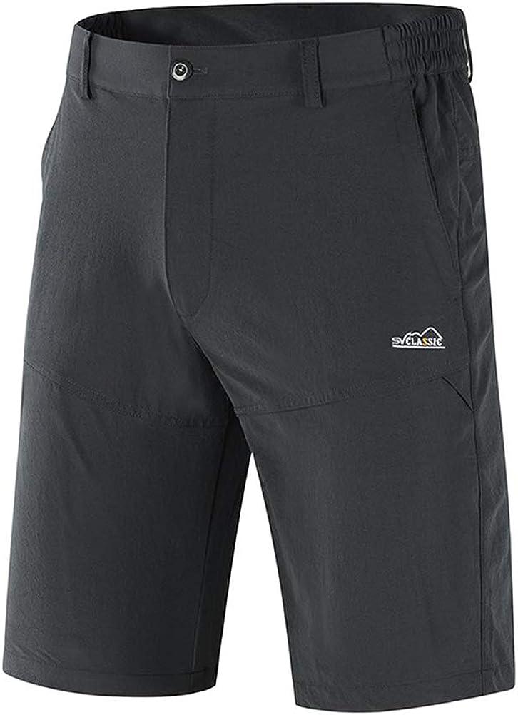 IDEALSANXUN Mens Stretchy Dry Quick Outdoors Bermuda Shorts