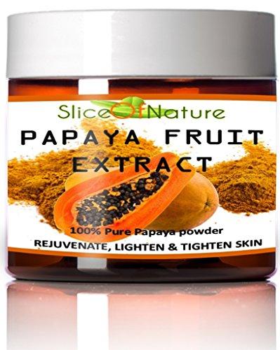 Rebanada de naturaleza 100% pura Papaya Extracto de fruta - Papaya polvo cara máscara - rejuvenecimiento facial - piel iluminación - iluminación de la piel - concentrado de Papaya enzima papaína Papaya extracto Facial máscara 5 oz