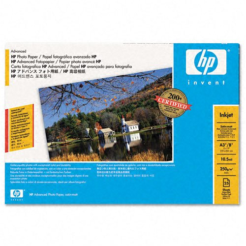 HP Q5462A Advanced Satin-Matte Photo Paper, 13 x 19 in. - 25 Sheets