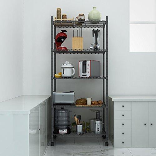 Review Homdox 5-Shelf Shelving Unit