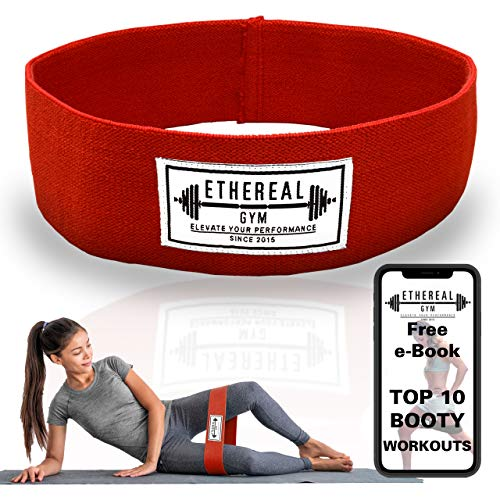 Ethereal Gym Hip Resistance Booty Band for Legs and Butt with Free Workout E-Book and Carry Bag - Non Slip Soft Cotton Fabric - Glute Loop Circle for Women and Men