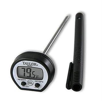 Taylor 9840 Digital profesional bolsillo de carne termómetro lcd con batería, nuevo,: Amazon.es: Hogar