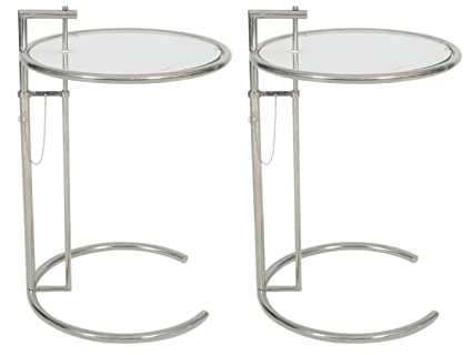 Amazoncom Eileen Gray End Table Set Of Adjustable - Eileen gray end table