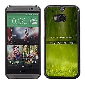 TECHCASE**Cubierta de la caja de protección la piel dura para el ** HTC One M8 ** New Day Now When Quote Live Moment