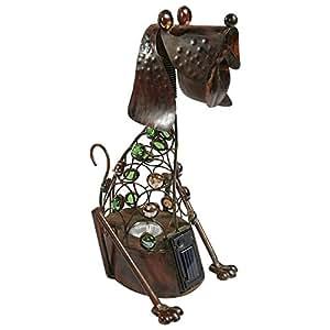 GLOBO 33310 - Escultura de animal para jardín (cobre), color marrón