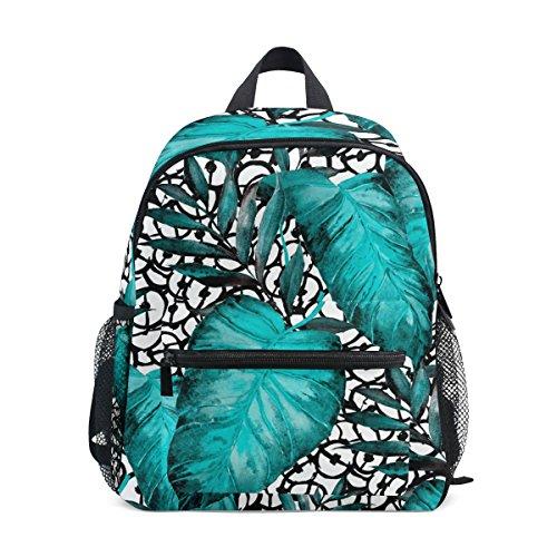 ZZKKO Toddler School Boy Leaf Kids Pre Tropical Palm Kindergarten Watercolor for Girls Bag Backpack PTrx6P