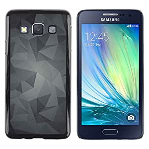 TopCaseStore / la caja del caucho duro de la cubierta de protección de la piel - Pattern Grey Gray Android - Samsung Galaxy A3 SM-A300