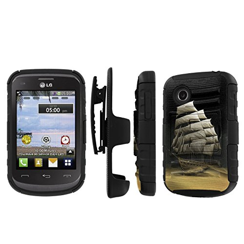 Click to buy NakedShield LG 306G 305C (Desert Ship) Combat Tough Holster KickStand Armor Phone Case - From only $15.95