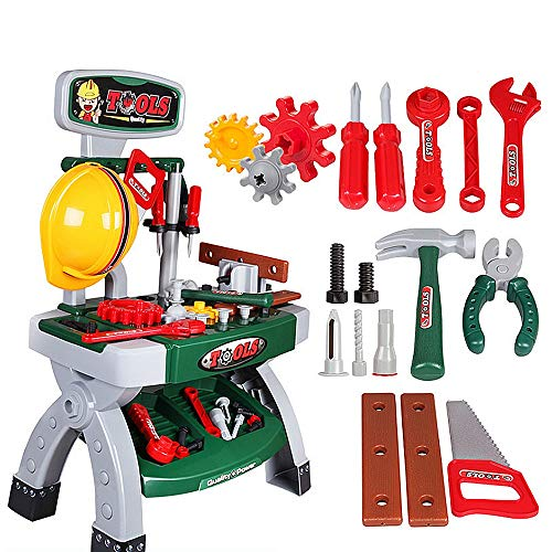 Kids Engineering Herramientas de reparación y reparación Juego de mesa Taller de juguete Herramientas colgantes realistas...
