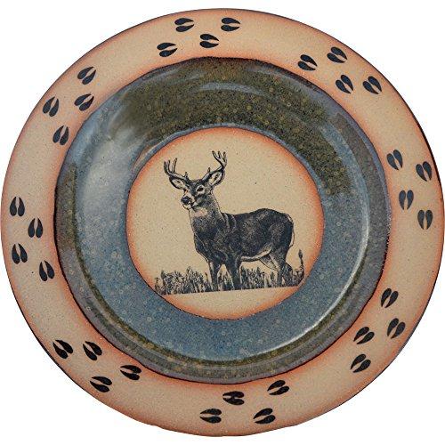 Deer Tracks Dinner Plate in Seamist