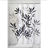 SUN-72 By 72 INCH Leaves Pattern Waterproof Shower Curtain with 12 Hooks , blue