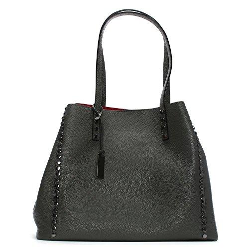 Grey Bag Daniel Grey Tote Tumbled Leather Mooch Leather Studded HawZw5Yq