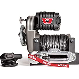 WARN 101070 Limited Edition 70th Anniversary M8274-70 Winch with Spydura Synthetic Cable Rope: 3/8″ Diameter x 150′ Length, 5 Ton (10,000 lb) Pulling Capacity