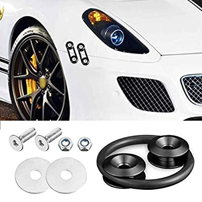 Enmoo 8Pcs Car Front Rear Bumper Quick Release Fasteners Washers Universal Aluminum Fasteners Washers Bolts Kit for Car Bumpers Trunk Fender Hatch Lids (Black): Automotive