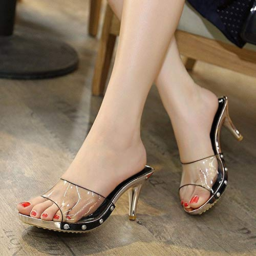 AWXJX AWXJX AWXJX Sommersaison Frauen Flip Flops Äußere Abnutzung Hang Zwei Verschleiß Niedrig - Verfolgte Open Toe Golden 7.5 US 38 EU 5 UK 6a29c6
