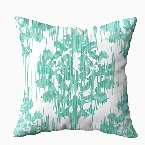 EMMTEEY Decorative Pillow Covers, 20x20 Pillow Covers Home Throw Pillow Covers for Sofa Distressed Damask Pattern Background Tile Square Double Sided Printing ()