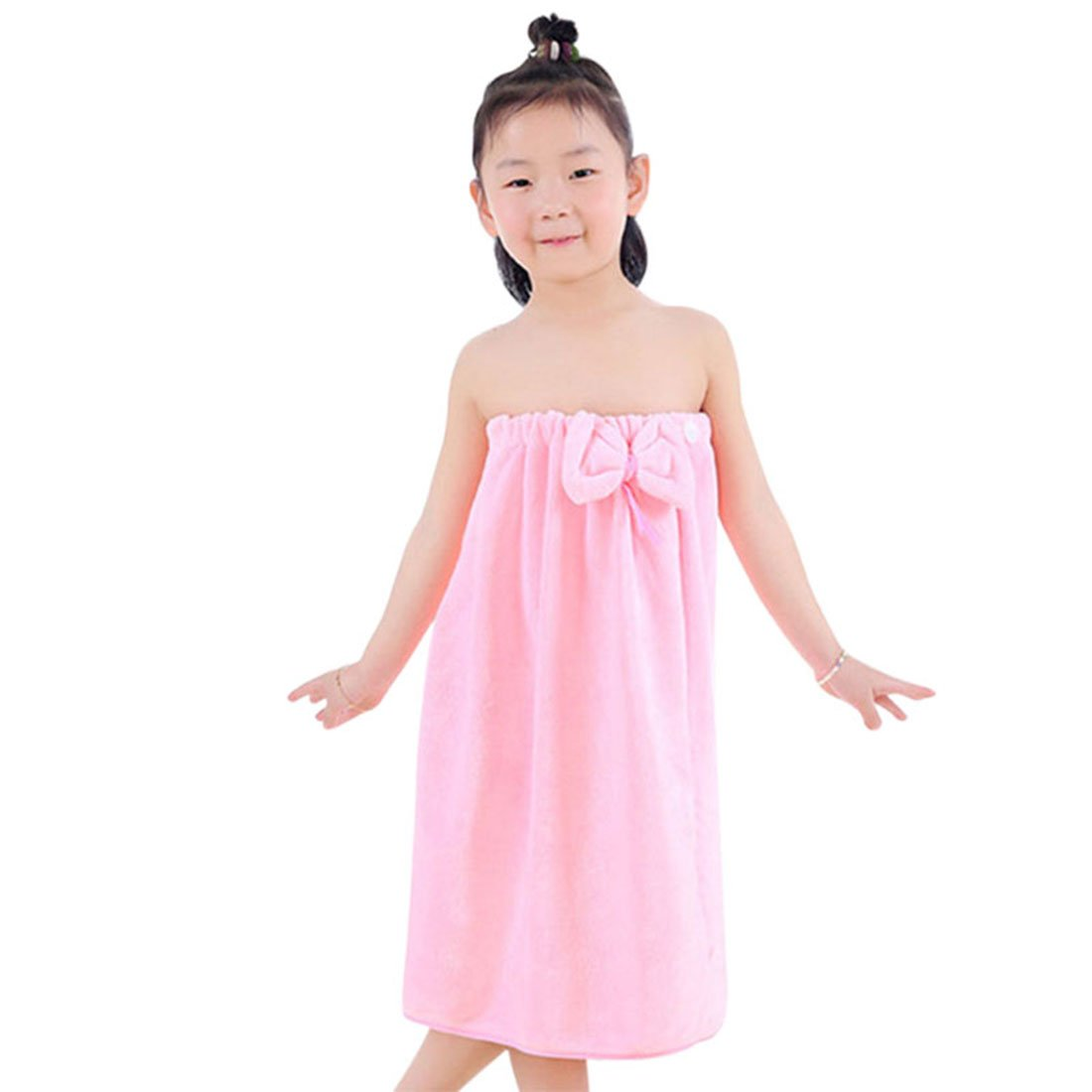 Freahap Kids Bathrobe Girls Bath Towel Wrap Shower Skirt Tube Dressing